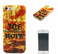 3:16 Numbers of Hope Words Phrase Pattern 0.6mm Ultra-Thin Soft Case for Apple iPhone 5/5S