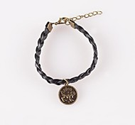 Fashionable PU Leather Constellation Charm Bracelets (1 pc)