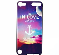Moon Anchor Pattern PC Hard Back Cover Case for iTouch 5