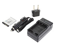 ismartdigi-sony np-FW50 (1500mAh, 7.2V) batería de la cámara enchufe + cargador de coche + eu para nex-5t 5r 3n f3 c3 a7 7 a55 a35 A7R