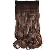 Clip Wave Hairpiece Synthetic Extension (Dark Brown)