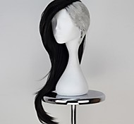 Tóquio Ghoul uta fabricante de máscara longo preto ondulado com cor prateada anime cosplay peruca