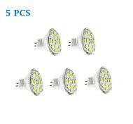 6W GU4(MR11) Bombillas de Filamento LED 12 SMD 5730 570 lm Blanco Cálido / Blanco Fresco DC 12 V 5 piezas
