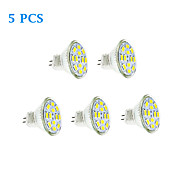 Lampadine LED a incandescenza 12 SMD 5730 GU4(MR11) 6W 570 LM Bianco caldo / Luce fredda 5 pezzi DC 12 V