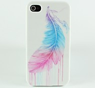 new Colored Feathers Pattern Hard Case for iPhone 4/4S