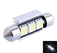 GC®  39mm 1W 50LM 6000K 3x5050 SMD White LED for Car Reading/License Plate/Door Lamp (DC12V)