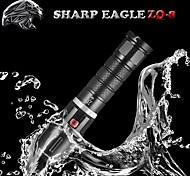 Sharp Eagle® LED Flashlights/Torch 1800LM Lumens Mode Cree XM-L U2 18650 Rechargeable / Nonslip gripCamping/Hiking/Caving / Everyday Use
