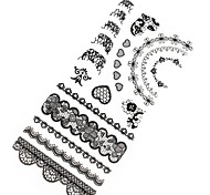 1PC 3D Fashion Black lace Nail Art Stickers Nail Wraps Nail Decals Flower Heart Nail Polish Decorations