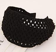 Fashion Wild Knitting Wool Hollow Wide Fabric Headband