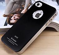 JOYLAND glassato di colore solido metallo Back Cover per iPhone 4/4S (colori assortiti)