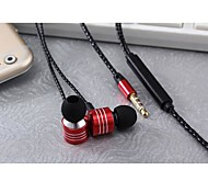 MSD-M3 3.5mm Noise-Cancelling Volume Control Microphone in-ear Earphone for Iphone and Other Phones(Assorted Colors)