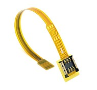 Micro SIM Card to Nano SIM Kit Male to Female Extension Soft Flat FPC Cable Extender 10cm