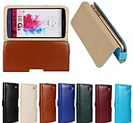 New Genuine Belt Clip Pouch Crazy Horse Leather Phone Case Cover for LG G3 (Assorted Colors)