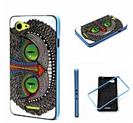 2-in-1 Cool Eye Owl Pattern TPU Back Cover with PC Bumper Shockproof Soft Case for Xperia E3