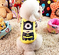 Yellow Cosplay Woolen T-Shirt For Dogs