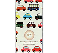 Fashion Cartoon Painted Car PC Back Cover for Huawei P7