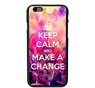 Keep Calm and Make A Change Design Hard Case for iPhone 6 Plus