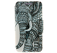 For HTC Case with Stand / with Windows / Flip Case Full Body Case Elephant Hard PU Leather HTC