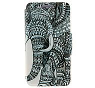 Для Кейс для HTC со стендом / с окошком / Флип Кейс для Чехол Кейс для Слон Твердый Искусственная кожа HTC