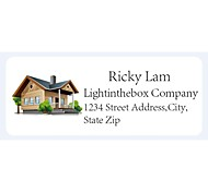 Personalized Product Labels / Address Labels Log Cabin Pattern White Film Paper