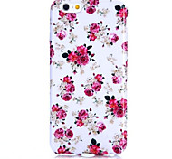 Delicate Flowers Pattern Soft TPU Back Cover for iPhone 6/6S Case 5.5 inch