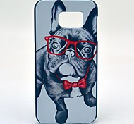 Cute Sunglass Dog Pattern Hard Case Cover for Samsung Galaxy S6