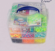 BaoGuang®Fashion Loom Three-layer Set (About4000Pcs Bands,4 Hooks+2 Looms + 4Pag Clips)