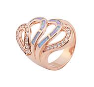 High Quality Fashion Rose Gold Opal Ring