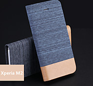 Jeans PU Holder Mobile Phone Case for Xperia M2 (Assorted Colors)