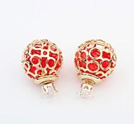 Earring Stud Earrings Jewelry Women Alloy / Rhinestone 2pcs Silver