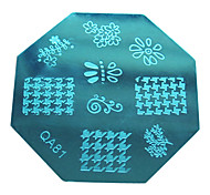 Nail Art Stamp Stamping Image Template Plate QA Series NO.81
