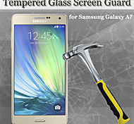 9H Hardness 2.5D Round Edge Tempered Glass Screen Protector for Samsung Galaxy A7 A700 (2PCS in One Package)