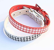 Cat / Dog Collar Adjustable/Retractable / Cosplay Red / Black PU Leather