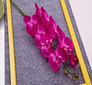 "40"" Long Fabric Butterfly Ochird Set of 3 Purple Color"
