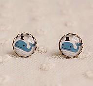 New Whale Stud Earrings