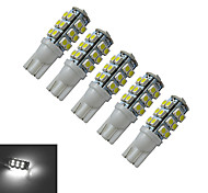 T10 Luces Decorativas 25 SMD 3528 100lm lm Blanco Fresco DC 12 V 5 piezas