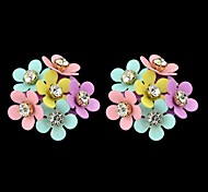 Fashion Wholesale Small Women Stud Flower Earrings