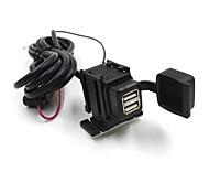 cargador de toma de puerto de suministro de energía a prueba de salpicaduras impermeable móvil del USB 2 de la motocicleta