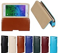 New Genuine Belt Clip Pouch Crazy Horse Leather Phone Case Cover for Galaxy Alpha G850(Assorted Colors)