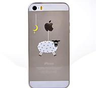 Para Funda iPhone 5 Transparente / Diseños Funda Cubierta Trasera Funda Logo Playing With Apple Suave TPU iPhone SE/5s/5