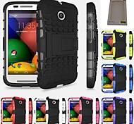 kemile lourds robot de tand cae cae téléphone dos dur de couverture pour Motorola MOTO e (couleur aorted)