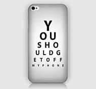 iPhone 4/4S/iPhone 4 - Cover-Rückseite - Spezial-Design/Neuartig/Kühle Wort / Phrase ( Mehrfarbig , Kunststoff )