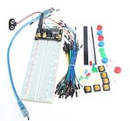 fuente de alimentación protoboard kit básico para arduino