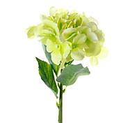 pequeñas hortensias países bajos amarillo y verde flores artificiales conjunto 3