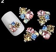 Pink Lovely/Wedding Finger/Toe Nail Jewelry/Glitter Metal 5PCS 4*3*1