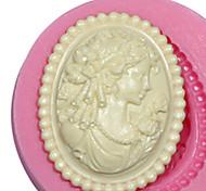 cameo femminile stampo in silicone stampo in silicone per signora fondente pasta di fimo gomma& cioccolato sm-473