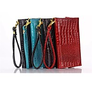 Crocodile Lines Multi-Function Wallet Card PU Case with Stand for Samsung Galaxy S6/E5/E7(Assorted Color)