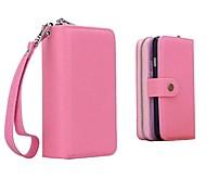 iPhone 6 Plus - Cover-Rückseite - Volltonfarbe/Spezial-Design ( Rot/Schwarz/Blau/Rosa , PU-Leder )