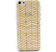 The Golden Wave Pattern Hard Cover Case for iPhone 5C