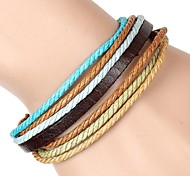 European And American Minimalist Recreational Wax Rope Braided Leather Bracelet Gifts